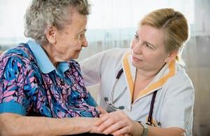 Nurse with elder
