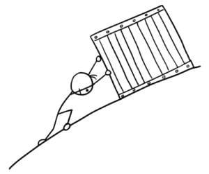Sisyphus cartoon