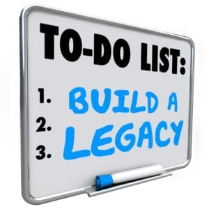 To do - Build a Legacy