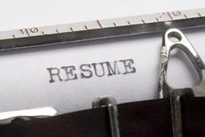 Resume typewriter