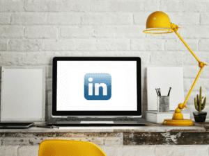 LinkedIn on a laptop