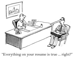 Interview cartoon