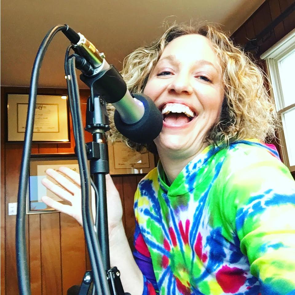 Elizabeth Scala on the mic