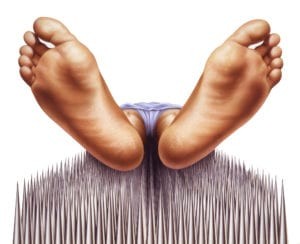 a bed of nails